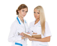 Two female doctors. Stock Photo