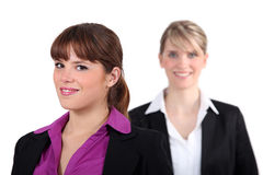 Two female executives Stock Images