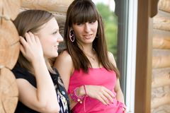 Two female friends Royalty Free Stock Photos