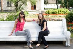 Two female friends Royalty Free Stock Photo