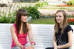 Two female friends Royalty Free Stock Photography