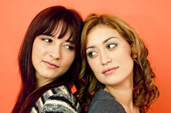 Two female friends.  Royalty Free Stock Photography