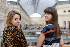 Two female friends Stock Images