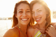 Two Female Friends On Summer Holiday Together Royalty Free Stock Photos