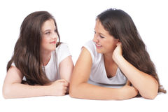 Two female girlfriends Stock Photo