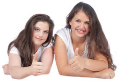 Two female girlfriends Stock Images