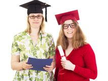 Two female graduates Royalty Free Stock Photo