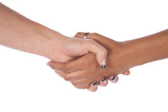 Two Female Hands Shaking Stock Photo