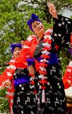 Two female Japanese folk dancers Stock Photo