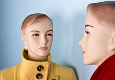 Two female mannequin Royalty Free Stock Photography