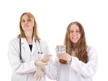 Two female medical doctors Stock Images
