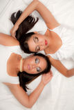 Two Female Models Posing Stock Photography