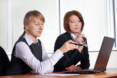 Two female in office Stock Photo