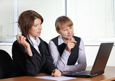 Two female in office Stock Photography