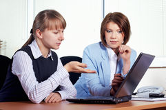 Two female in office Royalty Free Stock Photos
