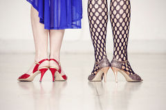 Two female pair of legs Stock Photography