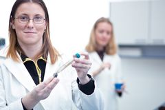 Two female researchers Stock Photos