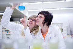 Two female researchers carrying out research Royalty Free Stock Photography