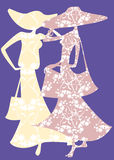 Two female silhouette Royalty Free Stock Image