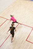 Two female squash players Royalty Free Stock Images