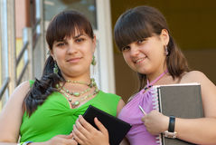 Two female students Royalty Free Stock Image