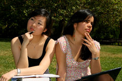 Two female students. Stock Photo