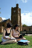 Two female students. Royalty Free Stock Photos