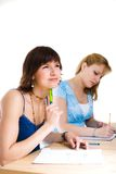 Two female students Royalty Free Stock Photos