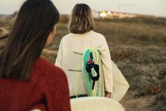 Surfer girls Stock Photography
