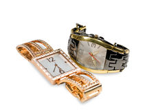 Two female   watchs Stock Image