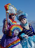 Two females portrait at the carnival in Annecy, Royalty Free Stock Image