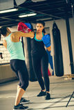 Two Females Sparring Stock Photo