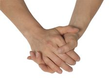 Two feminine hands Stock Image