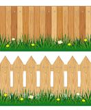 Two fences from tree Stock Photography