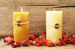 Two Feng Shui Candles Stock Images