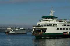 Two ferries Stock Images