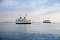 Two ferries Stock Image