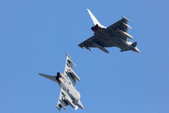 Two fighter jets sky Stock Photos