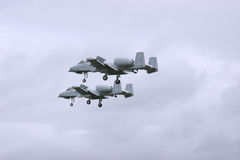Two Fighters. A10 Thunderbolt's Stock Photography