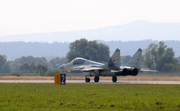 Two fighters MiG-29 Slovak Air Force - landing Stock Images