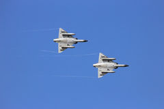 Two fighters sky Stock Image