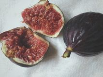 Fresh pulp of fig royalty free stock photography