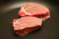 Two Fillets Cooking Stock Image