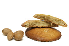Two fillled almonds cakes Stock Photo