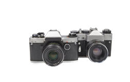Two film camera old. Royalty Free Stock Photo