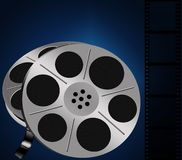 Two Film reels Royalty Free Stock Image