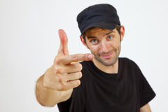 Two finger Royalty Free Stock Photos