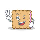 Two finger biscuit cartoon character style. Vector illustration Royalty Free Stock Photography