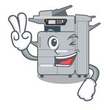 Two finger copier machine isolated in the cartoon. Vector illustration royalty free illustration