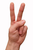 The two finger gesture hand isolated Royalty Free Stock Photo
